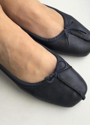 Кожаные балетки clarks 37 размер, натуральная кожа туфли