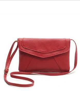 Молодежная сумочка конверт (красная )