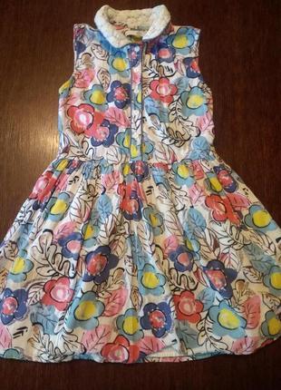 Платье m&s 8-9 л(134 см).