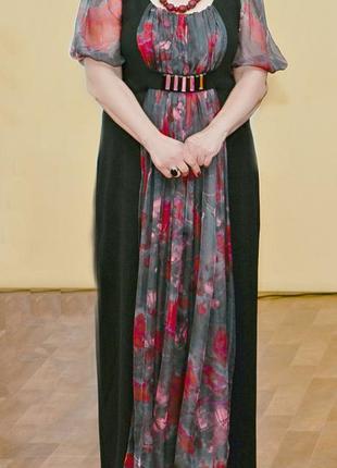 Эксклюзивное нарядное платье на пышную даму
