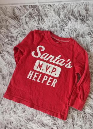 Детский реглан carter's red, детский реглан новогодний santa's...