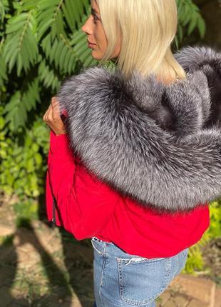 Женская куртка с чернобуркой, бомпер парка с мехом, xs-xl