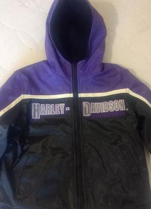 Куртка harley davidson 4 г ( 104 см) двухсторонняя.