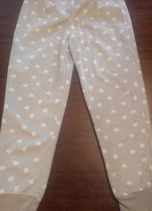Штаны пижамные ( пижама)  f&f 7-8 л( 128 см) флисовые.