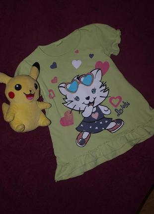 Милая футболка туничка девочке 116-124