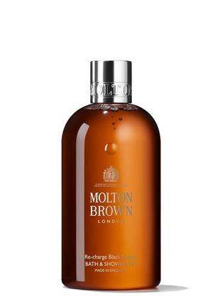 """Molton brown гель для душа и пенка для ванны """"освежающий чёрны..."""