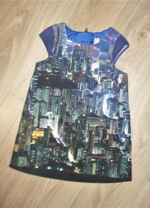 Стильно платье ночной город на 3-4годика