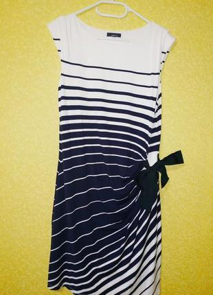 Jake's красивое платье, платье миди, платье в морском стиле, с...