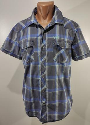 Мужская рубашка на кнопках mustang размер xl