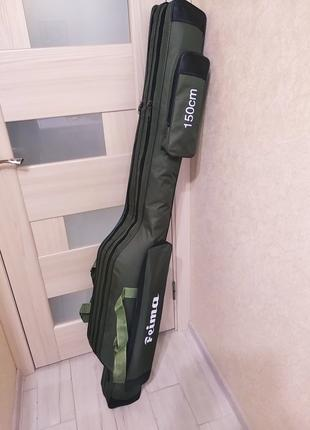 Чехол сумка для удилищ с катушками 150 см Feima
