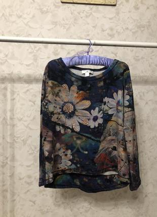 Красивый свитшот цветы rick cardona, новый!
