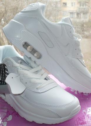 Женсеие модные белые Кроссовки Найк Air Max 90