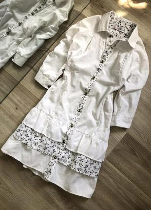 Платье - туника в рюши