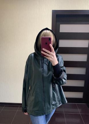 Кожаная куртка, кожаная женская куртка, плащ