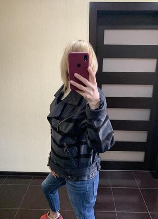 Кожаная женская куртка, кожаная куртка, кожаная косуха