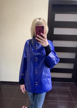 Стильная кожаная куртка, кожаная женская куртка