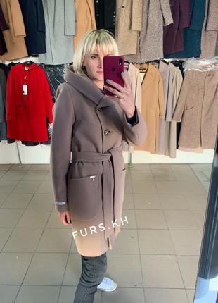 Женское пальто, пальто из кашемира, женское пальто весна осень...