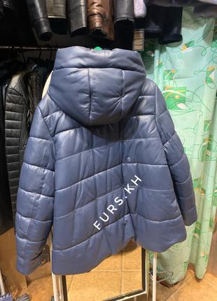 Кожаный пуховик, женская зимняя куртка, женская кожаная куртка...