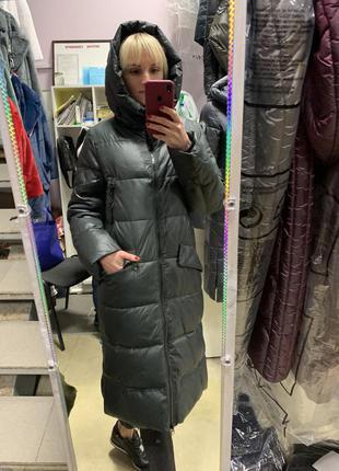 Женский пуховик, зимнее пальто, женский длинный пуховик