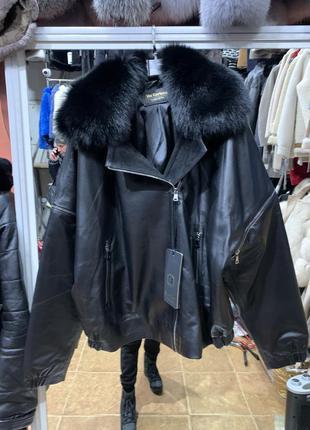Женская кожаная куртка, модная кожаная куртка, кожаная женская...