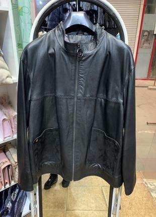 Кожаная женская куртка батал, куртки женские большого размера