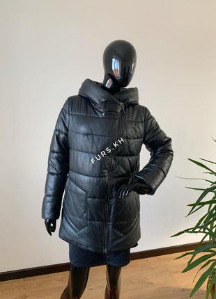 Кожаная женская куртка, зимняя кожаная куртка, женская кожаный...