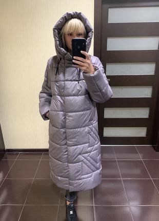 Женский пуховик батал, женское зимнее пальто большого размера,...