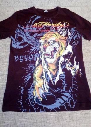 Дизайнерская футболка с тигром эд харди ed hardy.
