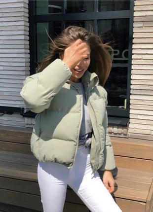 Супер актуальная дутая куртка демисезон