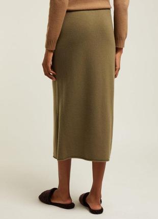 Теплая кашемировая вязаная юбка, натуральный кашемир шерсть, м...