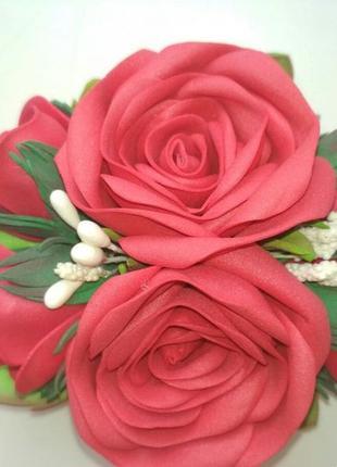 Заколка розы