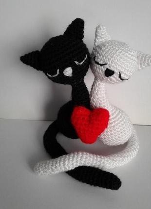 Влюбленные котята, подарок, сувенир на день святого Валентина