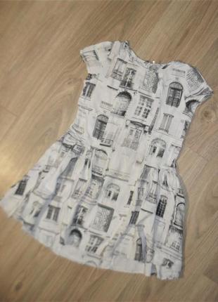 Легкое платье-туника на 10лет и раньше