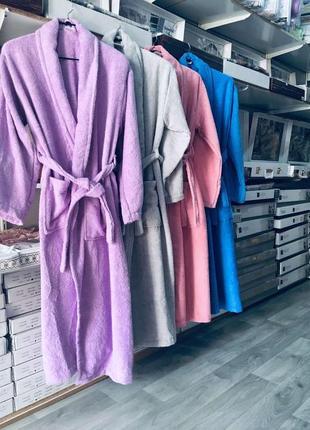 Женский махровый халат, турция, в наличии расцветки и размеры