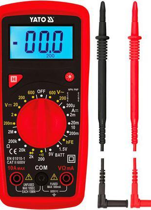 Мультиметр цифровой многофункциональный Yato YT-73081