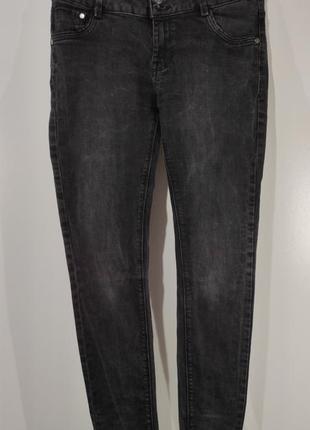 Женские серые зауженные джинсы clockhouse размер 40
