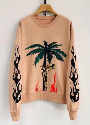 Свитшот свитер кофта palm angels skull smoke топ 2020 года