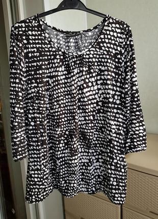 Базовая черно-белая блуза оверсайз германия!