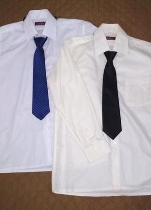 Рубашка для школы на мальчика белого цвета р. 33/140