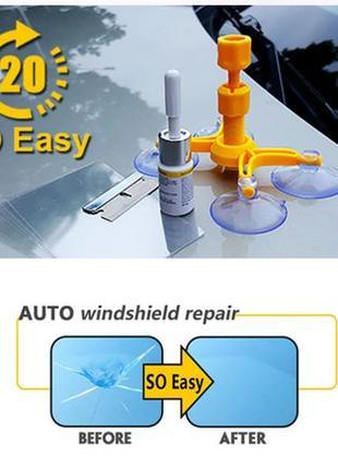 Инструмент для ремонта лобового стекла автомобиля набор клей -...