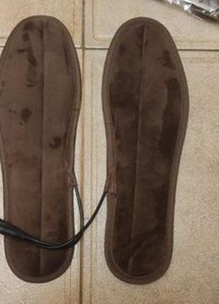 Зимние USB термостельки с подогревом для обуви стельки