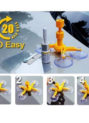 Набор для ремонта трещин лобового стекла Windshield Repair Kit...