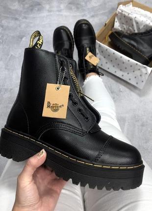 Распродажа, шикарные женские черные ботинки со змейкой dr mart...