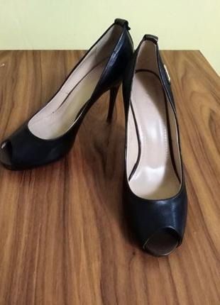 Туфли женские, натуральная кожа, размер 40