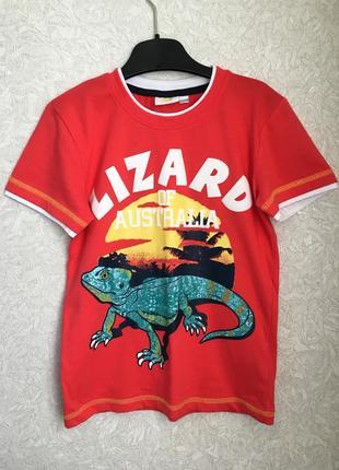 Яркая крутая  футболка на мальчика 7-8 лет