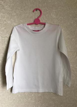 Белая хлопковая кофточка, унисекс. на 98-104 размер