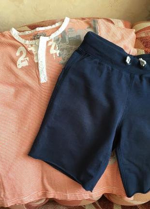 Комплект на мальчика 7-8 лет: футболка и трикотажные шорты