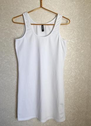 Трикотажная белая ночная сорочка/ платье