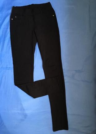 Чёрные трикотажные штаны/леггинсы