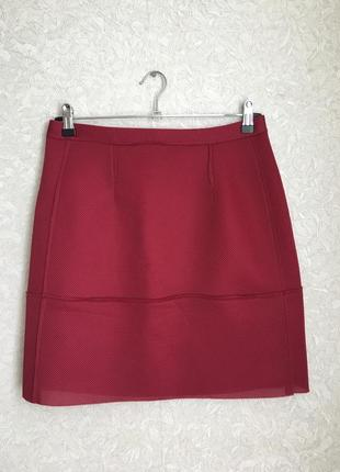 Красивая фирменная юбка бордо, сток,m-l размер